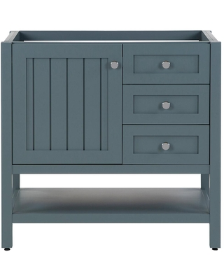 Home Decorators Collection Lanceton 36 in. W x 22 in. D x 34 in. H Bath Vanity Cabinet Only in Sage Green
