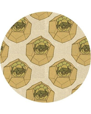 Can T Miss Deals On East Urban Home Floral Beige Area Rug X113660621 Rug Size Round 4