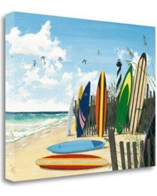 """Tangletown Fine Art 'Surfboards' by Scott Westmoreland Painting Print on Wrapped Canvas ICW675D-2418c Size: 35"""" H x 47""""W"""