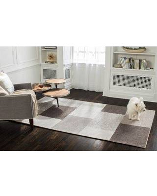 Gracie Oaks Tiled Hand-Woven Brown Area Rug HSDT2255 Rug Size: Rectangle 5' x 8'