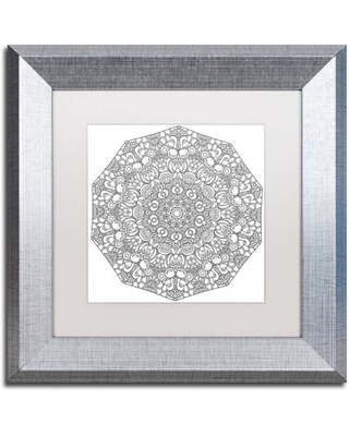"""Trademark Fine Art """"Mixed Coloring Book 19"""" Canvas Art by Kathy G. Ahrens, White Matte, Silver Frame"""