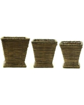 Bayou Breeze Jashon Grass 3 Piece Table Vase Set BBZE3383