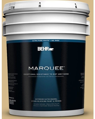 BEHR MARQUEE 5 gal. #350F-5 Camel Satin Enamel Exterior Paint and Primer in One