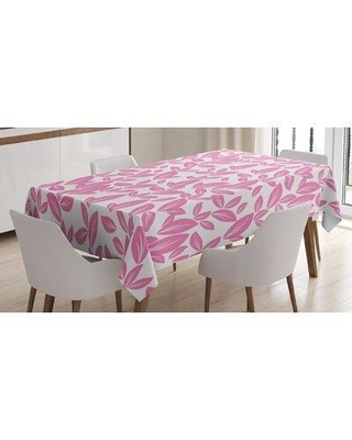 East Urban Home Big Flower Leaves on Background Rose Petals Spring Nature Tablecloth FCLQ8609
