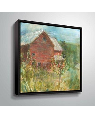 """Three Posts 'Barn Orchard' Print on Canvas X111372375 Format: Floater Framed Size: 24"""" H x 24"""" W x 2"""" D"""