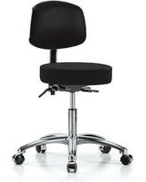 "Perch Chairs & Stools Office Chair PCHS1121 Size: 37.5"" H x 24"" W x 24"" D Color: Black Vinyl"