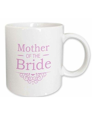 Winston Porter Robson Mother of The Bride Coffee Mug X111154942 Color: White/Pink Capacity: 15 oz. Theme: Mother of the Bride