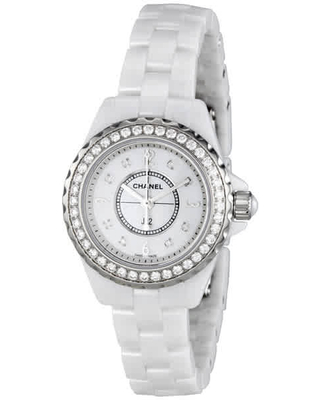 Chanel J12 Mother of Pearl White Ceramic Ladies Watch H2572