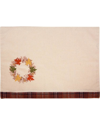 Xia Home Fashions 0.2 in. x 13 in. x 18 in. Maple Wreath Fall Placemats (4-Set)