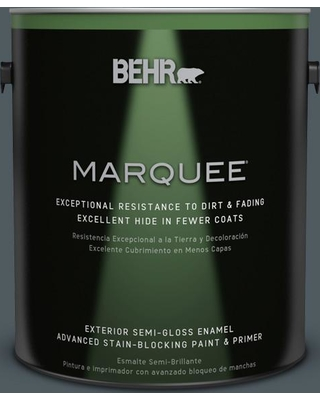 BEHR MARQUEE 1 gal. #PPU25-21 City Rain Semi-Gloss Enamel Exterior Paint and Primer in One