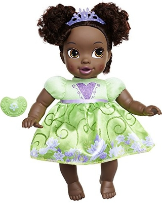 Disney Princess Deluxe Baby Tiana Doll with Pacifier Baby Doll Toy