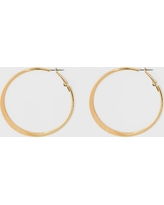 Large Knife Edge Hoop Earrings - A New Day Gold