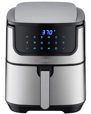 GoWISE USA Max Steel XL 7 qt. Stainless Steel Air Fryer and Dehydrator, Silver