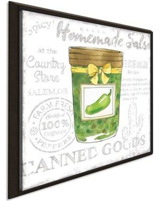 """August Grove 'Canning Kitchen III' Watercolor Painting Print AGTG6969 Size: 31.5"""" H x 31.5"""" W x 2"""" D Format: Framed Canvas"""
