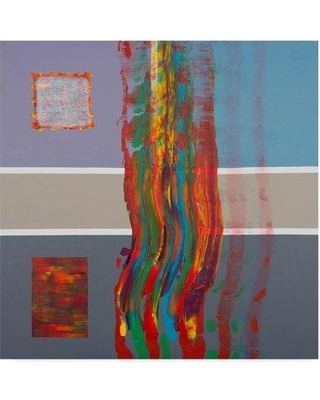 """Trademark Art 'Color Storm Route 1' Acrylic Painting Print on Wrapped Canvas ALI35719-CGG Size: 35"""" H x 35"""" W x 2"""" D"""