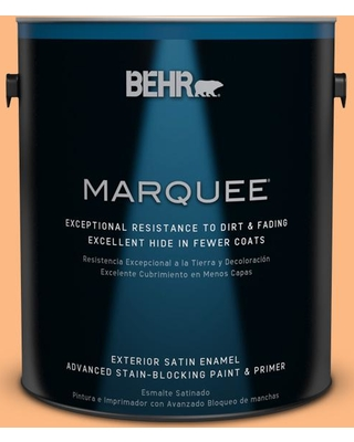 BEHR MARQUEE 1 gal. #250B-4 Coral Gold Satin Enamel Exterior Paint and Primer in One