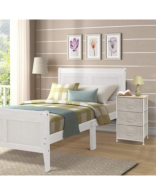 3 layer Drawers, Storage Nightstand Bedside Furniture End Table