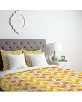 Deny Designs Hello Twiggs Bring Summer Back Duvet Cover 51993-duw Size: King, Fabric: Lightweight