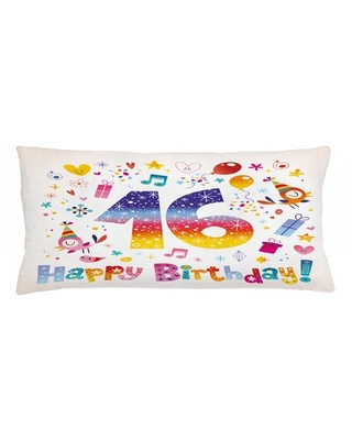 """16Th Birthday Indoor / Outdoor Lumbar Pillow Cover East Urban Home Size: 16"""" x 36"""""""