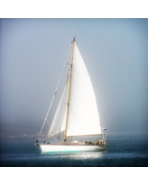 Special Prices On Buy Art For Less Sailboat Into The Mist By Jobe Waters Wrapped Canvas Photograph Print Jw1031 Size 12 H X 12 W X 1 5 D