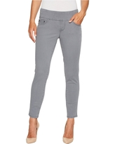 Jag Jeans Amelia Pull-On Slim Ankle Pants in Bay Twill (Grey Streak) Women's Casual Pants