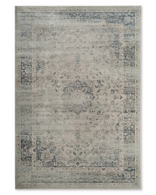 Safavieh Vintage Palace 6-Foot 7-Inch x 9-Foot 2-Inch Area Rug in Light Blue