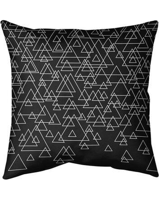 """Ebern Designs Kitterman Scatte Triangle Indoor/Outdoor Throw Pillow W001647544 Size: 20"""" x 20"""" Color: Black"""