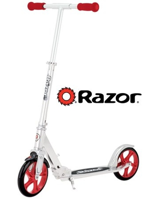 Razor A5 Lux Kick Scooter W/ Extra Large Wheels- Red