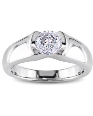 Miadora Signature Collection 14k White Gold 1ct TDW Certified Diamond Solitaire Engagement Ring (6)
