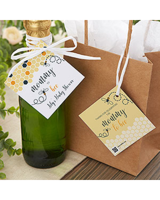 Mommy To Bee Personalized Baby Shower Gift Tags - 1 set of 20