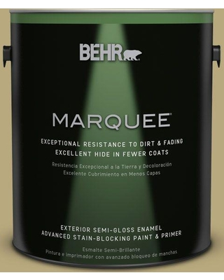 BEHR MARQUEE 1 gal. #M330-5 Fresh Brew Semi-Gloss Enamel Exterior Paint and Primer in One