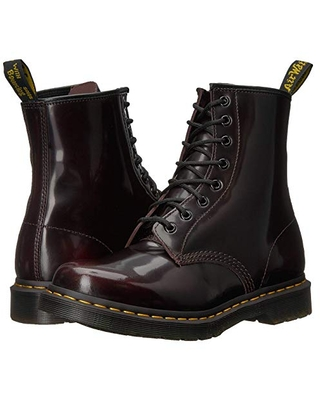 Dr. Martens 1460 W (Cherry Red Arcadia Leather) Women's Lace-up Boots