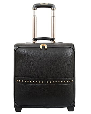 Mellow World Carry-on Rolling Suitcase, 16-inch, Black, One Size