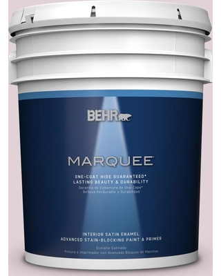 BEHR MARQUEE 5 gal. #T15-7 Secret Blush Satin Enamel Interior Paint and Primer in One