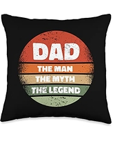 Best Dad Ever Father's Day Gift Ideas Men Daddy DAD2: Father's Day: Dad - the Man, the Myth, the Legend Throw Pillow, 16x16, Multicolor