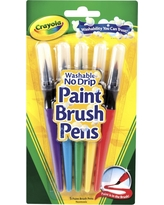 Crayola Paint Brush Pens 5ct, Multi-Colored