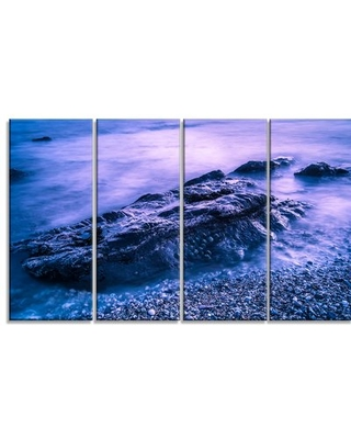 Can T Miss Deals On Blue Slow Motion Sea Waves 4 Piece Wrapped Canvas Graphic Art Print Design Art