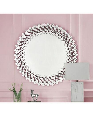 Kachina Collection 97585 Wall Decor Accent Wall Decor Beveled Mirrored Finish Faux Gems Inlays in Mirrored and Faux Gems