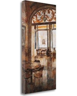 """Tangletown Fine Art 'Grand Cafe Cappuccino I' Print on Wrapped Canvas CAMNP206-1529c Size: 34"""" H x 17"""" W"""