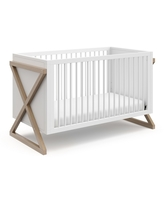 Storkcraft Equinox 3-in-1 Convertible Crib - White/Vintage Driftwood