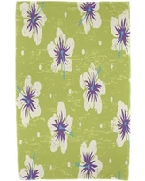 Bay Isle Home Hibiscus Blooms Floral Print Beach Towel BAYI2926 Color: Light Green