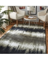 The Curated Nomad Abney Grey Tie Dye Area Rug - 5' x 8' (5' x 8' - Grey/Brown)