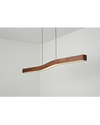 Great Prices For Orren Ellis Guang 1 Light Unique Statement Geometric Pendant W Wood Accents Finish Oiled Walnut In Chrome Size Oversized 30 Wide Or Larger