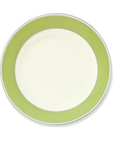 Pickard Color Sheen Bread and Butter Plate, Green Platinum