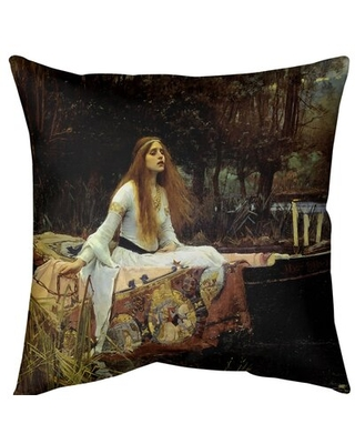 Remarkable Deals On The Lady Of Shalott Throw Pillow East Urban Home Size 14 X 14 Fill Material Down Alternative