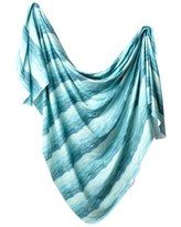 Copper Pearl Knit Swaddle Blanket - Waves