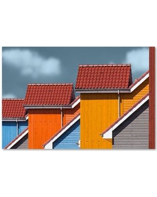 """Trademark Fine Art 'Roofs' Photographic Print on Wrapped Canvas 1X03617-C Size: 12"""" H x 19"""" W"""