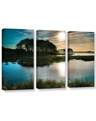 ArtWall Early Morning On Beach Drive I by Steve Ainsworth 3 Piece Photographic Print on Gallery Wrapped Canvas Set 0ain071c3654w