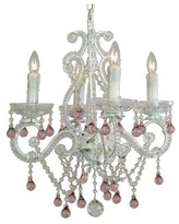 House of Hampton Chon 4-Light Candle Style Classic / Traditional Chandelier CJ226434 Crystal: Pink