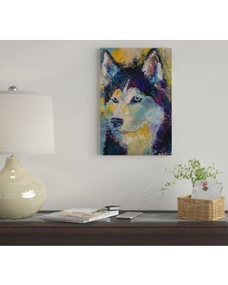 """East Urban Home 'Art Husky' By Richard Wallich Graphic Art Print on Canvas EUME2416 Size: 18"""" H x 12"""" W x 1.5"""" D"""